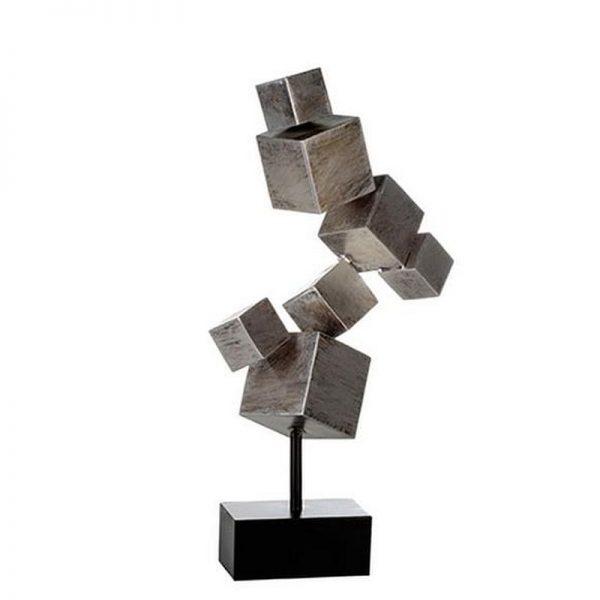 skulptur-cubes-metall-antik-silber